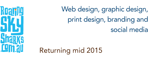 Roaring Sky Sharks: web design, graphic design, print design, branding and social media